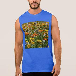 Spring Flowers Meadow Sleeveless Tees