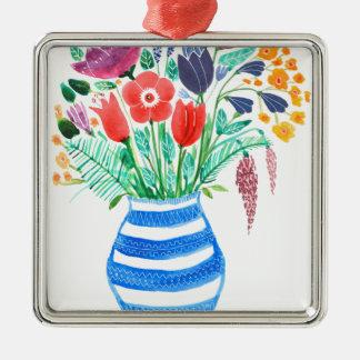 Spring Flowers Metal Ornament