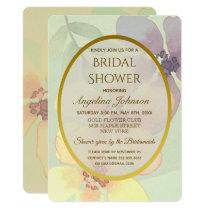 Spring Flowers Mint Bridal Shower Invitation