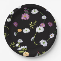 Spring Flowers, Nature Paper Plate