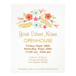 Spring Flowers Open House Flyer