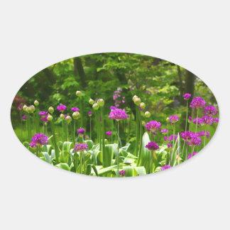 Spring Flowers Oval Sticker