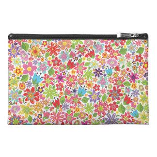 Spring Flowers Pattern Designer Make Up Bag! Travel Accessories Bags