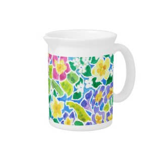 Spring Flowers Pitcher or Jug, Primroses pitcher