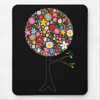 Spring Flowers Pop Tree Fun Custom Gift Mousepad mousepad