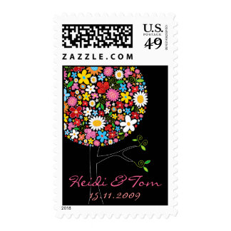 Spring Flowers Pop Tree Save-the-Date / Invitation Stamps