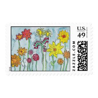 Spring Flowers Postage