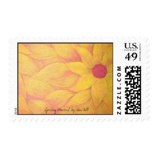 """Spring Flowers"" Postage Stamp"