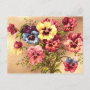 Spring Flowers Postcard Vintage