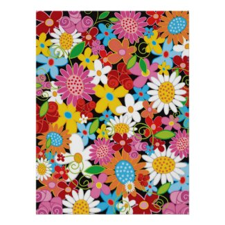Spring Flowers Poster print