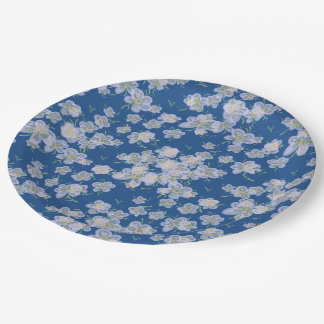 Spring Flowers (purple) 9 Inch Paper Plate