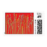 """""""SPRING FLOWERS"""" Red Collection Stamps"""