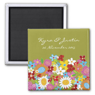 Spring Flowers Save-the-Date Gift Magnet