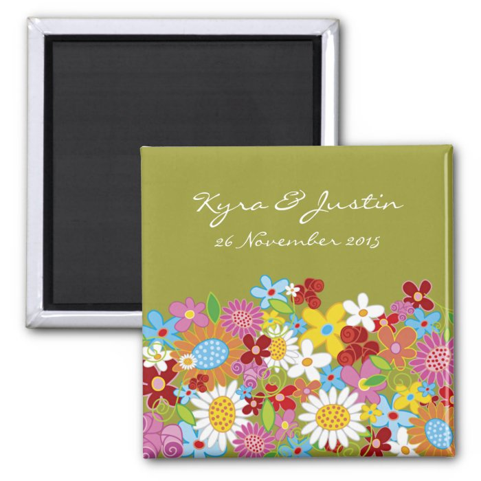 Spring Flowers Save-the-Date / Gift Magnet
