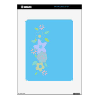 Spring flowers skin for the iPad
