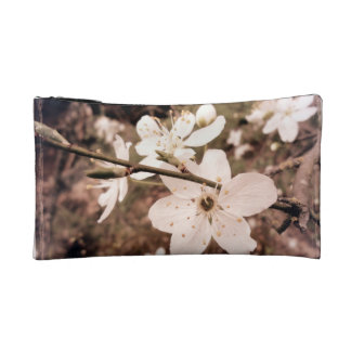 """""""Spring Flowers"""" Small Cosmetic Travel Bag"""
