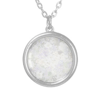 spring flowers,soft round pendant necklace