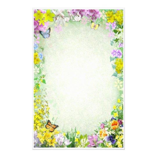 Spring Flowers Stationery