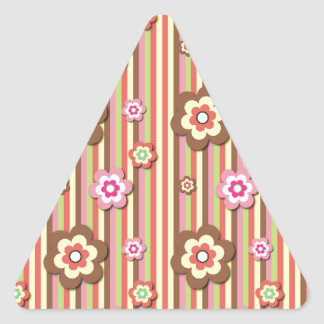 Spring Flowers Triangle Stickers