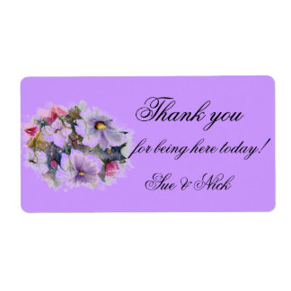 Spring flowers thank you  favor label