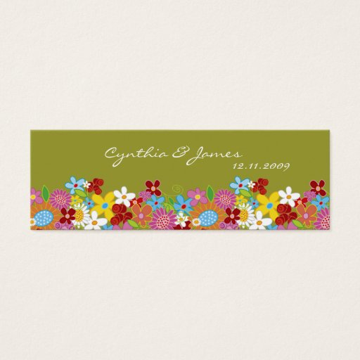Spring Flowers Thank You / Gift Tag / Announcement Mini Business Card