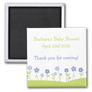 Spring Flowers Thank You Magnet - Boy