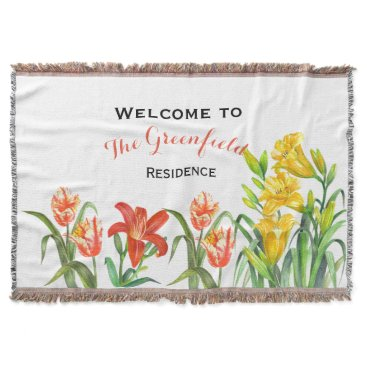 Professional Business Spring Flowers Throws Blanket