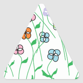 Spring Flowers Triangle Sticker