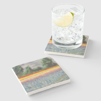 Spring Flowers Triptych image 1 of 3 Stone Coaster