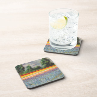 Spring Flowers Triptych picture 1 of 3 Beverage Coaster