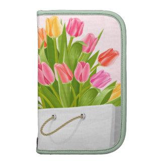 Spring Flowers Tulip Bouquet Folio Planner