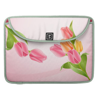 Spring Flowers Tulip Bouquet Sleeve For MacBook Pro