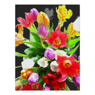 Spring Flowers Tulips Poster