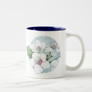 spring flowers Two-Tone coffee mug
