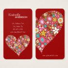 Spring Flowers Valentine Heart Love Profile Card