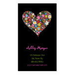 Spring Flowers Valentine Heart Love Profile Card Double-Sided Standard Business Cards (Pack Of 100)