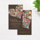 Spring Flowers Valentine Love Heart Profile Card
