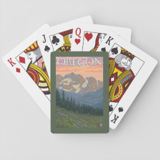 Spring Flowers- Vintage Travel Poster Playing Cards