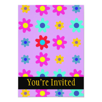 Spring Flowers Vivid Colors Card