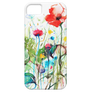 Spring Flowers Watercolors Illustration iPhone SE/5/5s Case