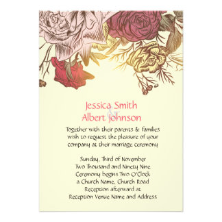 Spring Flowers Wedding Invite