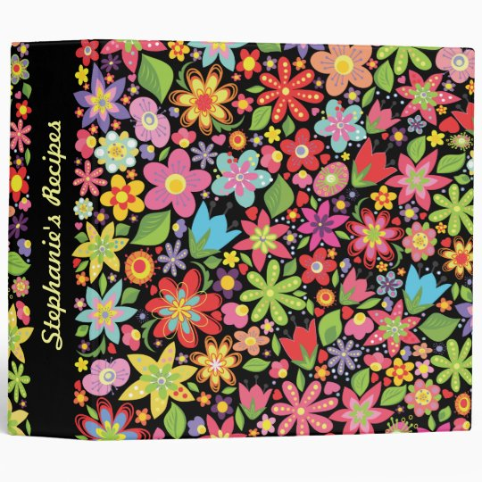 Spring Flowers Wedding Planner Organizer Binder