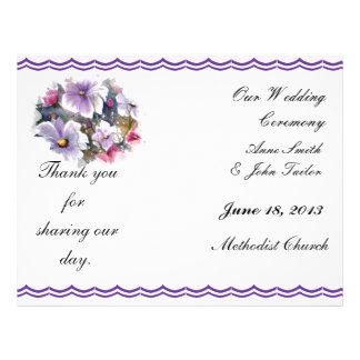 SPRING FLOWERS wedding program Flyers