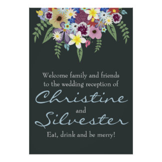 Spring Flowers, wedding reception welcome Poster