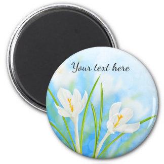 Spring flowers (white crocus) magnet