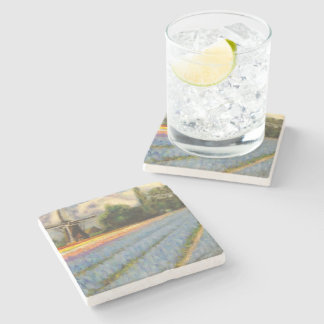 Spring Flowers Windmill Triptych image 2 of 3 Stone Coaster