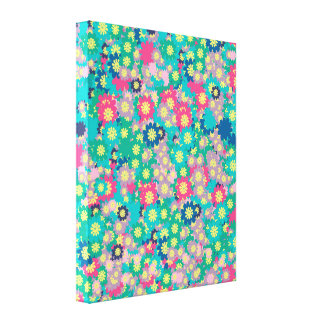 Spring Flowers with Blue Sky Canvas Print