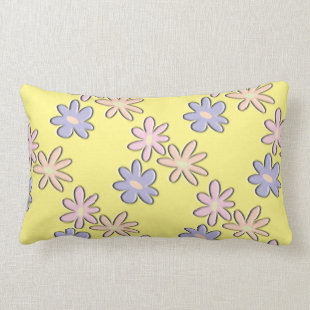 Spring Flowers Yellow Pillow