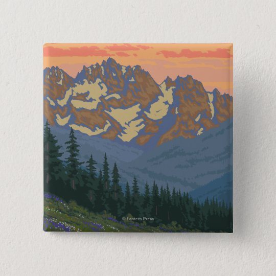 Spring Flowers - Yellowstone National Park Button