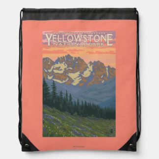 Spring Flowers - Yellowstone National Park Cinch Bag